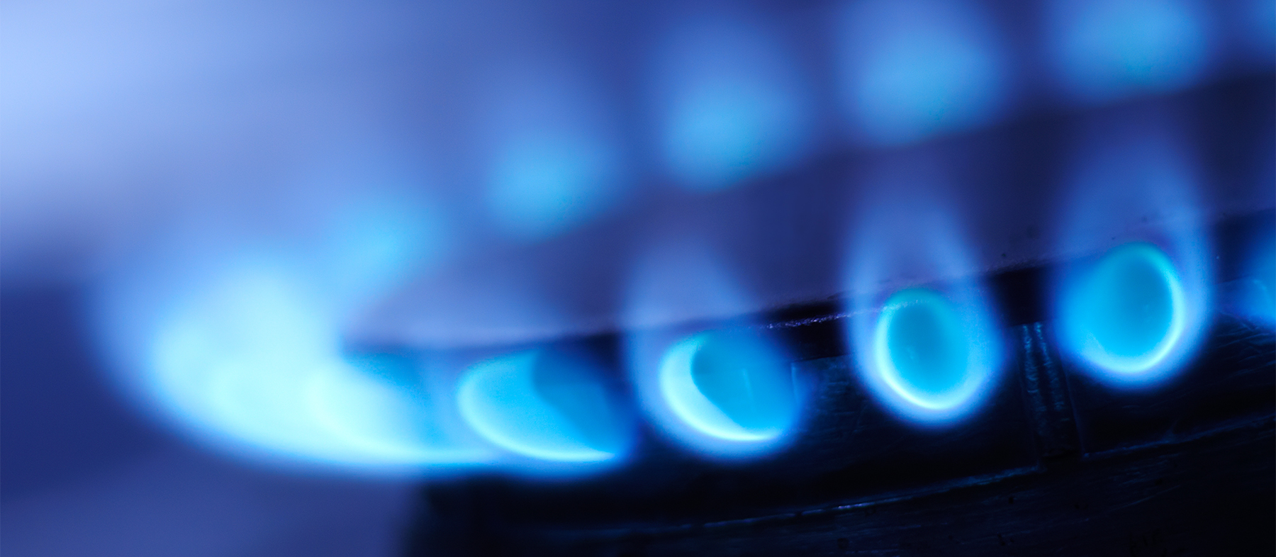 Gas burning on a stove
